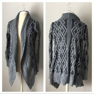 Anthropologie Kaisely Sweater Cardigan Gray M
